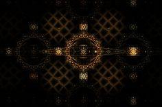 Fractal Digital Art - Golden Gate by Elena Ivanova IvEA    #ElenaIvanovaIvEAFineArtDesign #Print #Decor #Interior #Fractal #Abstraction