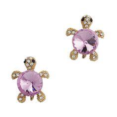 Crystal Turtle Stud Earrings (More Colors) | OWL MONKEYS