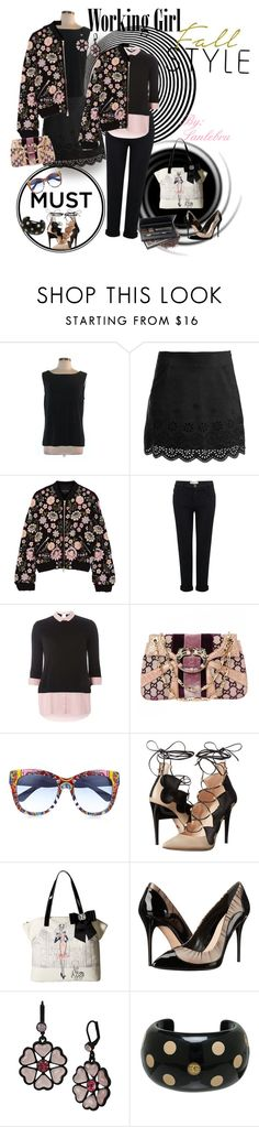 """""""Fall Work Clothes"""" by sanlebru ❤ liked on Polyvore featuring Chico's, Sans Souci, Needle & Thread, Current/Elliott, Dorothy Perkins, Gucci, Dolce&Gabbana, Ruthie Davis, My Flat In London and Alexander McQueen"""
