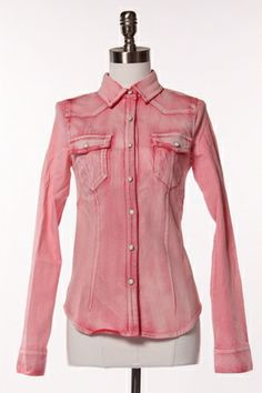 PinkChic Denim Shirt!
