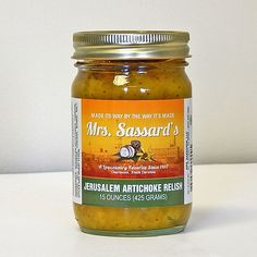 Sassards Original Jerusalem Artichoke Relish has been a Charleston, Lowcountry favorite since Small Sunflower, Relish Recipes, Black Eyed Susan, Specialty Foods, Low Country, Savoury Dishes, Original Recipe, Jerusalem, Artichoke