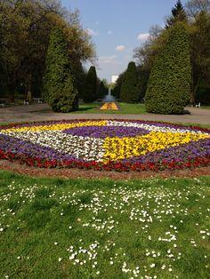 Bialystok Planty park in April