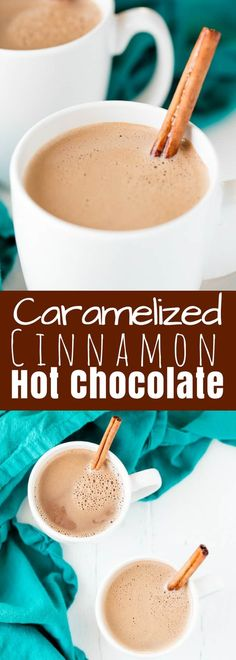 Caramelized Cinnamon Hot Chocolate is an easy to make, super indulgent, and amazingly delicious dessert. It's a sure cure for the winter blues! And who doesn't love a good homemade hot chocolate?