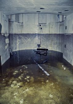 Bare footprints in abandoned nuclear reactor