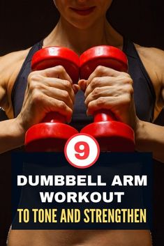 Do you want to tone your arms? Grab a set of dumbbells and start your workout today! Here are 9 dumbbell exercises for tone and strengthens arms that are simple, quick, and incredibly effective. Dumbbell Arm Workout, Dumbbell Exercises, Training Exercises, Strength Training Workouts, Toning Workouts, Fit Board Workouts, Fitness Workouts, Butt Workout, Fun Workouts