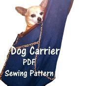 Dog Carrier PDF Sewing Pattern, Small Do - via Craftsy Free Tutorials Dog Pouch, Dog Bag, Small Dog Clothes, Pet Clothes, Dog Clothing, Dog Clothes Patterns, Sewing Patterns, Dog Sling, Dog Carrier Bag