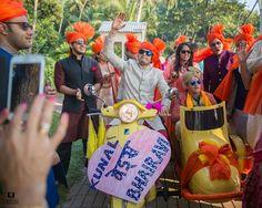 groom entry on motorbike , baraat ideas , baarat ideas