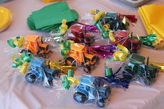 tractor birthday favors