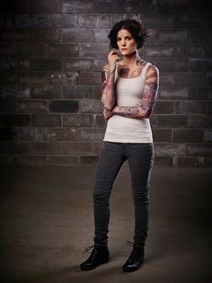 Jaimie Alexander is the tattooed Jane Doe in Blindspot. Blindspot premieres Monday, September 21 at 10/9c on NBC after the season premiere of The Voice. @nbctv