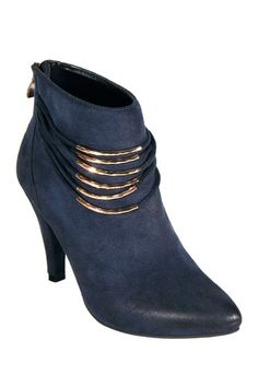 Navy ankle boot.