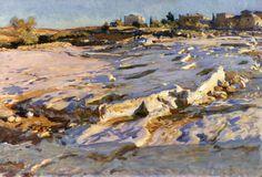 The Athenaeum - Rock Graves at Jerusalem (John Singer Sargent - ) 1905-1906