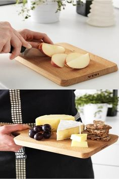 From cutting to serving, the PROPPMÄTT multipurpose chopping board from IKEA is made of beautiful durable solid wood, that is gentle on your knives and looks good as well.