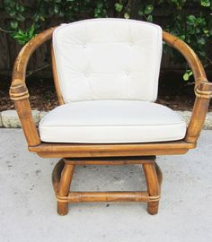 Rogue Vintage Ficks Reed Rattan Swivel Chairs  www.roguevintage.com