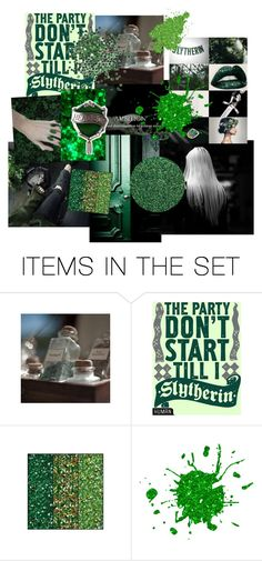 """""""Slytherin Aesthetic"""" by firecutie ❤ liked on Polyvore featuring art"""
