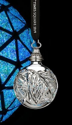 Waterford Times Square 2014 Ball Ornament Z Crystal Stemware, Waterford Crystal, Cut Glass, Glass Art, Waterford Ornaments, Beautiful Christmas Decorations, Hanukkah Gifts, Ball Ornaments, Christmas Baubles