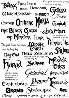 Fonts - Tolkien Gateway Also visit http://www.thehutt.de/tolkien/fonts.html (They dont have an image big enough to pin)
