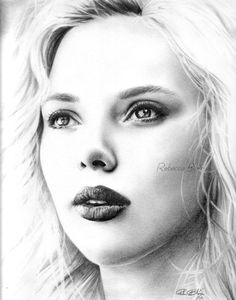 Scarlett_Johansson_by_R_becca aka Pencil Artist Rebecca Blair # Drawing Art