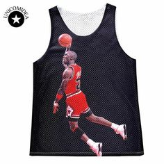 9def81e4998 2017 Brand Clothing Men's Summer Tanks Tops 3D Graphic Print Jordan Stylish  Jersey Summer Vest Sleeveless