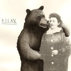 Bear And Granny print  8x10 by jimbobart on Etsy, $35.00