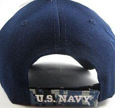 1b23dda14c6a3 US Honor US Navy Valiant Digital Camo Brim Shadow Mens Cap  Navy Blue -  Adjustable