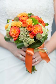 Orange and Green Bouquet|Photo by: shoreshotz1.com