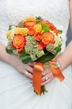 Orange and Green Bouquet|Photo by: shoreshotz1.com
