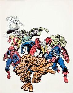Marvel Heroes by John Buscema