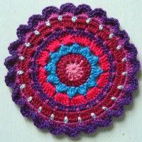 Crochet Mandala Wheel made by Kelly, Leeds, UK, for yarndale.co.uk
