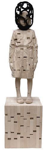 Gehard Demetz - Contemporary Artist - Wood Sculpture - Idea 2008 - Easy distorsion.