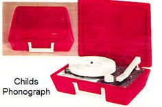 My first record player. I think I was around ten when my parents gave this to me, which I think they did because they couldn't stand to hear me playing my music on the stereo in the living room any longer! Mine wasn't exactly like this, and it was turquoise, not red, but it's otherwise quite similar. Ah, memories :)