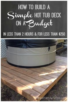 How portable is the Swift Current hot tub spa?  And how to make an easy and cheap deck for a hot tub. A simple tutorial for a fast and easy DIY deck on a budget.