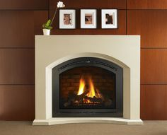 Apollo arched mantel by Hearth and Home Technologies.