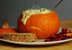 Ofen-Käse-Kürbis zu Halloween