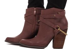 Lime Lush Boutique - Brown Ankle Boot with Harness Detail, $59.95 (https://www.limelush.com/brown-ankle-boot-with-harness-detail/)