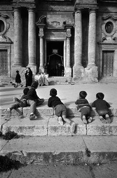 bruno barbey - italy, sicily region, town of palermo, 1964.