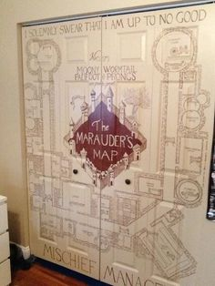 Decorate your closet as the Marauder's Map. Cool for a library or play room