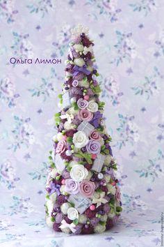 """Купить Елочка """"Черника!"""" - темно-фиолетовый, сиреневый, розовый, красивая, елка, новогодняя елка"""