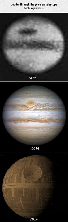 Jupiter Through The Years. Wait... That's not Jupiter!