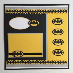 "Handmade Premade 12""x12"" Batman Scrapbook Layout by JuliesPaperCrafts on Etsy"