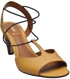 Pequin Mid Heel Sandal - Fendi