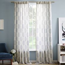 Striped Curtains & Patterned Drapes | west elm