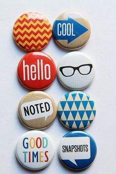 Krafty 2 by aflairforbuttons on Etsy, $6.00  #flair #flairbuttons