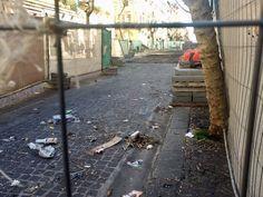 Vomero, via Luca Giordano: il cantiere-fantasma.  Lavori fermi da tempo con disagi per i cittadini