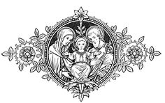Holy Family of Nazareth, pray for us. Jesus Tattoo, Catholic Crafts, Catholic Art, Religious Images, Religious Art, Catholic Missal, Catholic Tattoos, Pattern Texture, Christ The King