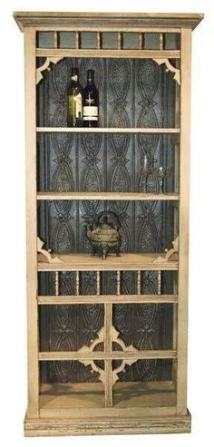 Bookcase made from old screen door