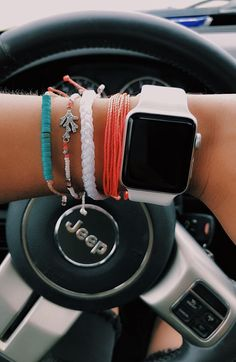 apple watch accessories Ever wondered what a VSCO Girl is Even even more, ever questioned which VSCO lady accessory your star sign is STYLECASTERs homeowner . Apple Watch Bracelets, Summer Bracelets, Cute Bracelets, Cute Apple Watch Bands, Summer Jewelry, Beach Bracelets, Ocean Jewelry, Handmade Bracelets, Cute Jewelry