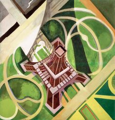 Robert Delaunay (1885-1941), 1922, Eiffel Tower and the Gardens of the Champ de Mars, oil on canvas.