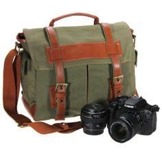Army Green DSLR Canvas Camera Shoulder Bags Messenger Cases for Nikon Canon Sony Meco,http://www.amazon.com/dp/B00CDKPZLE/ref=cm_sw_r_pi_dp_SUsXsb14Y27C7VD0
