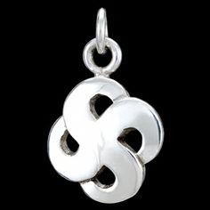 Silver pendant, quatrefoil Silver pendant, Ag 925/1000 - sterling silver. Stylized quatrefoil. Dimensions approx. 17x22mm.