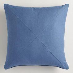 One of my favorite discoveries at WorldMarket.com: Blue Herringbone Throw Pillow